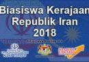 Biasiswa Kerajaan Republik Iran 2018