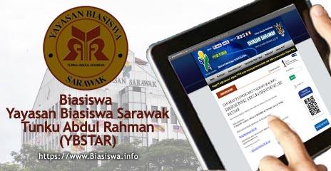 Biasiswa Yayasan Biasiswa Sarawak Tunku Abdul Rahman Ybstar 2018