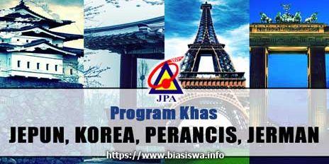 Biasiswa JPA Program Khas Jepun Korea Perancis dan Jerman
