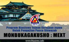 Biasiswa Kerajaan Jepun Monbukagakusho MEXT 2018