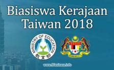 Biasiswa Kerajaan Taiwan 2018