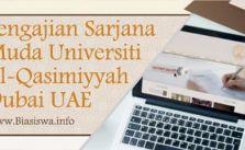 Pengajian Sarjana Muda di Universiti Al-Qasimiyyah Dubai UAE