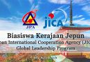 biasiswa kerajaan jepun jica global leadership program