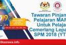 pinjaman pelajaran mara 2019 spm 2018 ytp