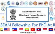 asean fellowship for phd at iit