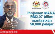 pinjaman mara rm2.07 bilion manfaatkan 50000 pelajar