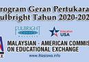 program geran pertukaran fulbright tahun 2020-2021