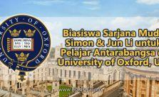 biasiswa sarjana muda simon jun li pelajar antarabangsa university of oxford uk