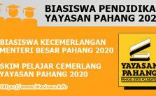 biasiswa pendidikan yayasan pahang bkmb spcyp 2020